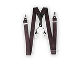 Чоловічі коричневі підтяжки на подарунок Paolo Udini, фото 3