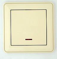 Выключатель скрытой установки одноклавишный