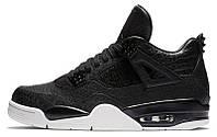 Баскетбольные кроссовки Nike Retro Air Jordan IV Premium Pinnacle, Аир Джордан черные