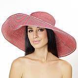 Шляпа малиновая  с широкими полями 18 см принимающая любую форму, фото 3