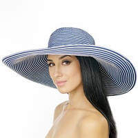 Шляпа в полоску с широкими полями 18 см принимающая любую форму