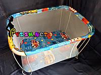 "Манеж детский с мелкой сеткой Kinderbox ""Тачки"", фото 1"