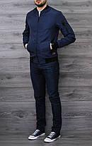 Куртка бомбер Baterson темно-синяя, фото 2