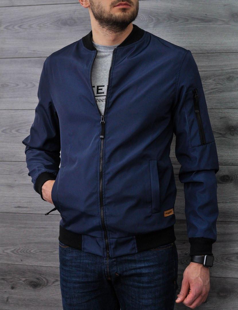 Куртка бомбер Baterson темно-синяя