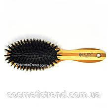 Щетка для волос массажная деревянная c натуральной щетиной 77250BP Salon Professional