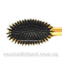 Щетка для волос массажная деревянная c натуральной щетиной 77250BP Salon Professional, фото 2