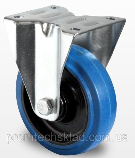 Колесо неповоротне з роликовим підшипником 200 мм, еластична гума/поліамід (Німеччина)