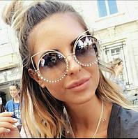 Женские очки круглые Marc Jacobs новинка коричневые a856532b52eb8