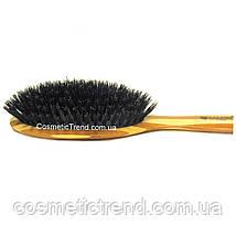 Щетка для волос массажная деревянная c натуральной щетиной 77250BP Salon Professional, фото 3