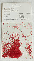 Пикси для декора ногтей мелкие, красные.