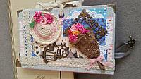 """Блокнот handmade """"Весна в Париже"""" с чехлом, фото 1"""