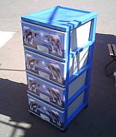 Комод пластиковый Дельфины элиф Турция
