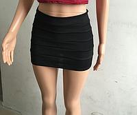 Юбка мини черная женская
