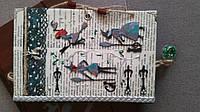 "Блокнот handmade ""Ведьмочки"" с чехлом"