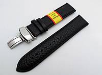 """Кожаный ремешок Modeno - Spain """"бабочка"""" цвет черный, застежка серебристая"""