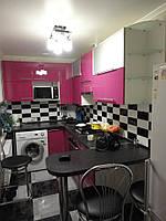 Угловая кухня с барной стойкой,крашеный фасад,заказать в Харькове.
