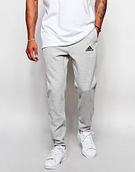 Штаны спортивные Adidas серые (люкс копия)