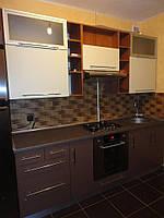 Кухоная мебель с крашеными матовыми фасадами МДФ под заказ