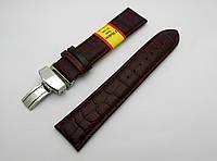 """Кожаный ремешок Modeno - Spain """"бабочка"""" цвет коричневый, застежка стальная"""