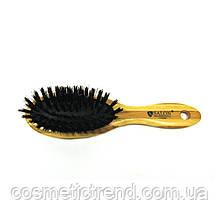 Щетка для волос массажная деревянная c натуральной щетиной 77252BP Salon Professional