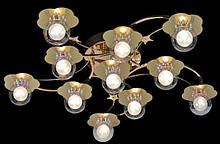 Потолочная люстра с подсветкой и пультом управления
