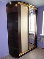 Шкафы-купе венге темный+венге светлы.