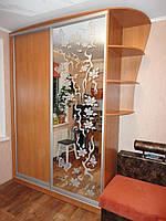 Шкаф купе с пескоструйным рисунком