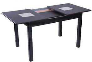 Стол раскладной Берлин С МДФ 1150(1550)*750 (2 стеклянные вставки), фото 2