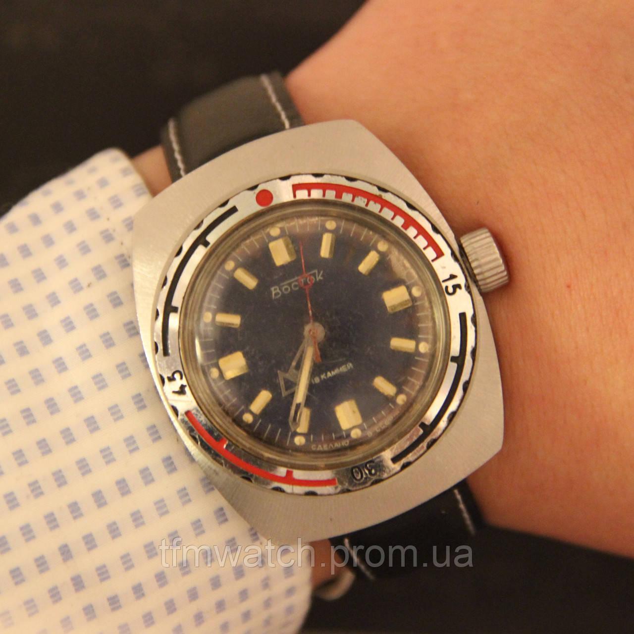 03ab1fd7 Восток Амфибия бочка механические часы СССР - Магазин старинных, винтажных  и антикварных часов TFMwatch в