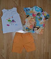 Комплект 3-ка летний для мальчика (рубашка+майка+шорты), Maia (Турция)