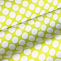 Хлопковая ткань Монетки салатовая, фото 1