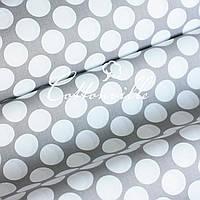 ✁ Отрезы хлопковой ткани Монетки серая , фото 1