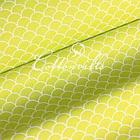 Хлопковая ткань Черепичка салатовая, фото 1