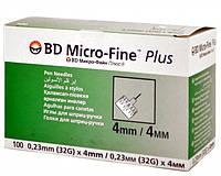 Иглы для шприц-ручек универсальные BD Microfine Plus 0,23 * 4мм (Микро-файн)