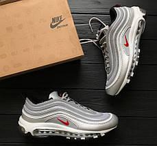 """Мужские и женские кроссовки Nike Air Max 97 """"Silver Bullet"""" Рефлективные (Топ реплика ААА+), фото 2"""