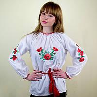 Вышитая блузка для девочки Маковая роса
