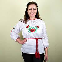 Вышитая женская блузка Маковая роса