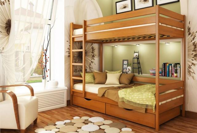 Кровать двухъярусная Дуэт тм Эстелла цвет №105 Ольха (Бук Щит)