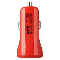 Автомобильное зарядное устройство Baseus 2.1A Dual USB Car Charger Tiny-Color Red (CCALL-CR09)