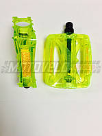 Педали для горного велосипеда (поликарбонат),mod:JD-185 (#MD) цвет:зеленый