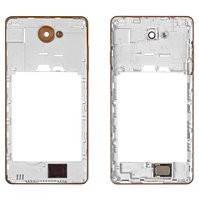 Средняя часть корпуса для мобильного телефона Nous NS 5004, original, золотистая, полный комплект, с звонком, #5846011887