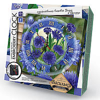 Embroidery clock 'Васильки', фото 1