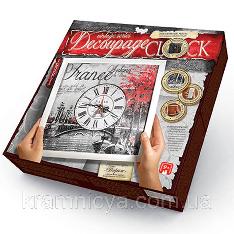 Decoupage Clock з рамкою 'Париж'