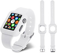 Ремень для Apple Watch Apple Watch 38mm Soft Silicon Band - White