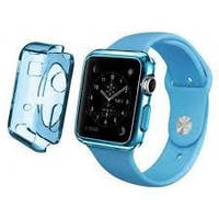 Ремень для Apple Watch Apple Watch 38mm TPU Case - Clear Blue