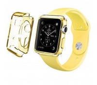 Ремень для Apple Watch Apple Watch 38mm TPU Case - Clear Yellow