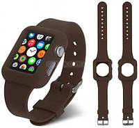 Ремень для Apple Watch Apple Watch 42mm Soft Silicon Band - Brown