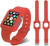 Ремень для Apple Watch Apple Watch 42mm Soft Silicon Band - Red