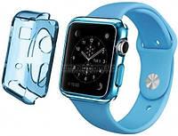Ремень для Apple Watch Apple Watch 42mm TPU Case - Clear Blue