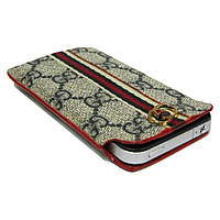 Чехол Case Gucci Gray/Brown iPhone 4/3GS (A08)